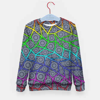 Thumbnail image of Rainbow Bright Bold Geometric Pattern  Kid's Sweater, Live Heroes