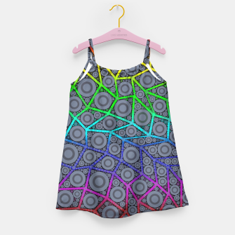 Thumbnail image of Rainbow Bright Bold Geometric Pattern  Girl's Dress, Live Heroes