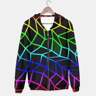 Thumbnail image of Bright Rainbow Geometric Pattern  Hoodie, Live Heroes
