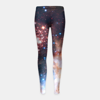Thumbnail image of Red Galaxy Girl's Leggings, Live Heroes