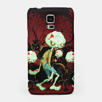 Thumbnail image of Zombie Creepy Monster Cartoon on Cemetery Samsung Case, Live Heroes