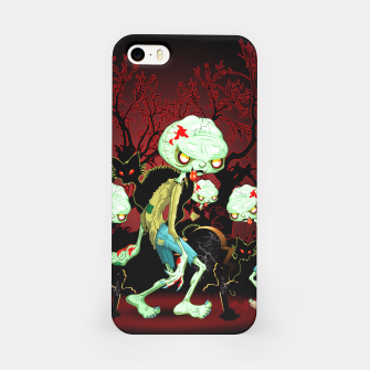 Thumbnail image of Zombie Creepy Monster Cartoon on Cemetery iPhone Case, Live Heroes