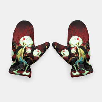 Thumbnail image of Zombie Creepy Monster Cartoon on Cemetery Gloves, Live Heroes