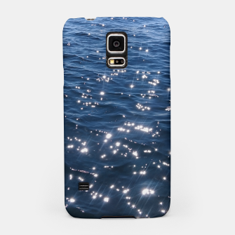 Sparkly Deep Blue Sea Waves Samsung Case thumbnail image