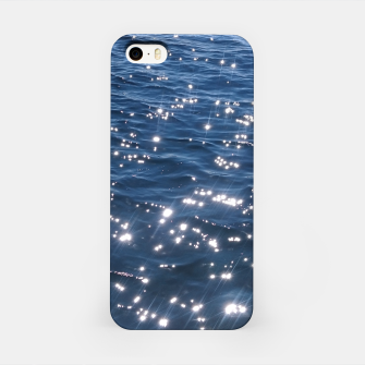 Sparkly Deep Blue Sea Waves iPhone Case thumbnail image