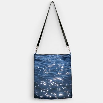 Sparkly Deep Blue Sea Waves Handbag thumbnail image