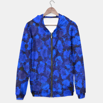 Thumbnail image of Blue Cheetah Print Pattern Womens  Hoodie, Live Heroes