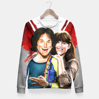 Thumbnail image of Mork & Mindy movie poster Fitted Waist Sweater, Live Heroes