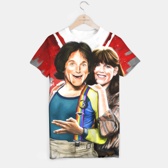 Thumbnail image of Mork & Mindy movie poster T-shirt, Live Heroes