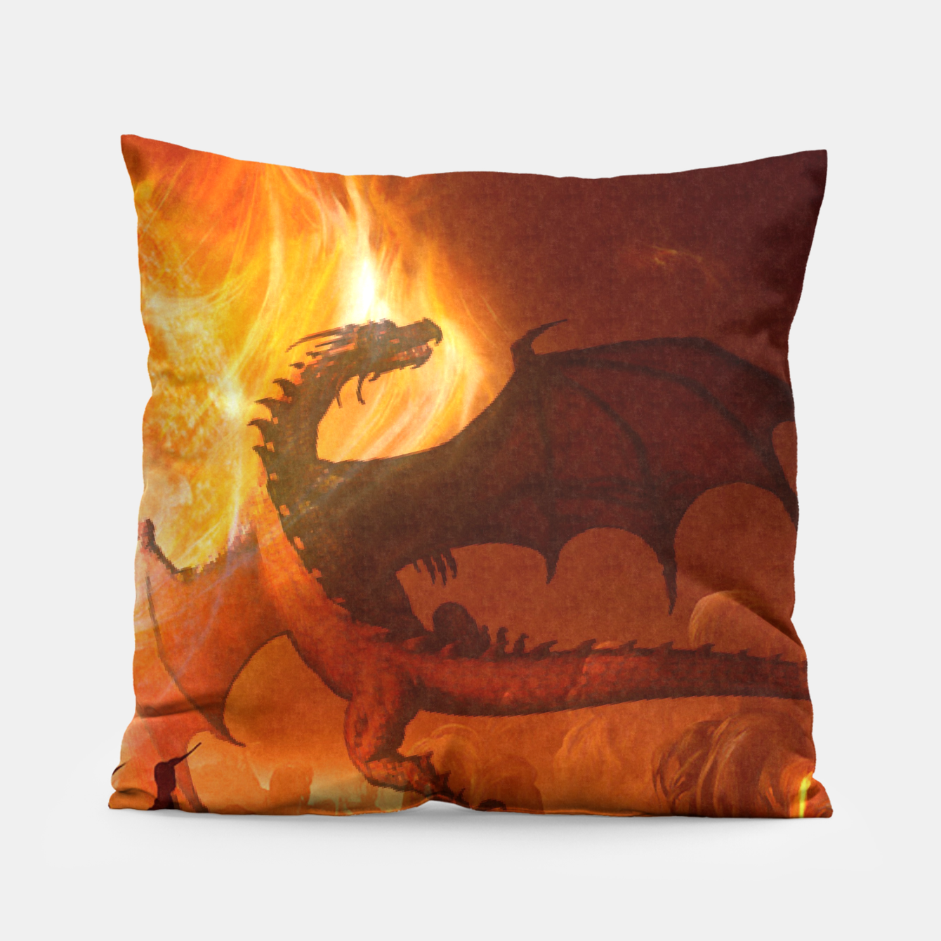 Image of Dragon's world Pillow - Live Heroes
