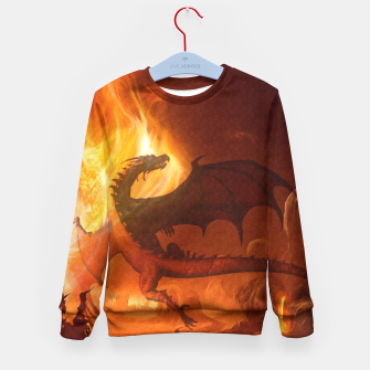 Thumbnail image of Dragon's world Kid's Sweater, Live Heroes