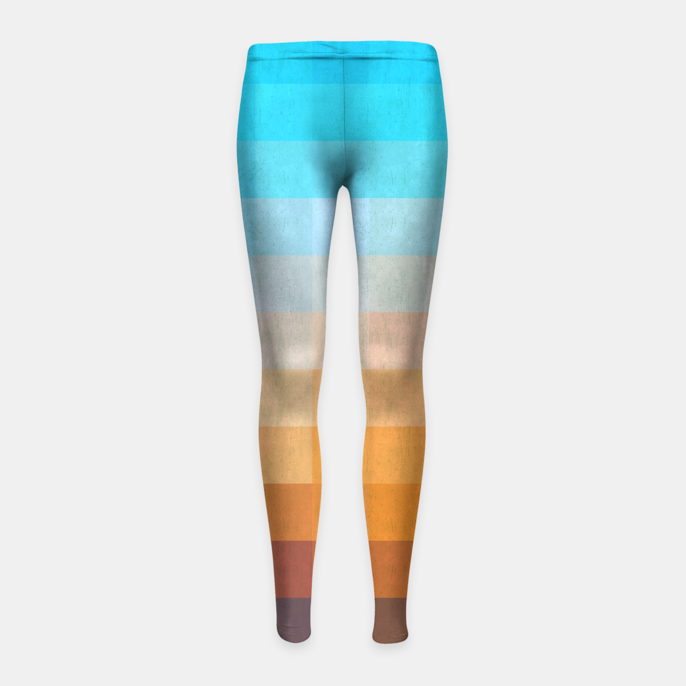 1539f2ef887ba Gradient Blue and Red Girl's Leggings, Live Heroes