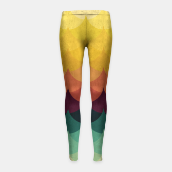 Waves in Gradient Girl's Leggings obraz miniatury