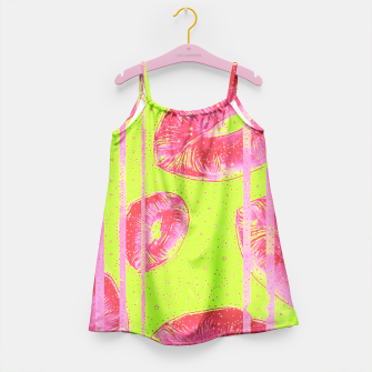 Thumbnail image of Neon Green Pink Lips  Girl's Dress, Live Heroes