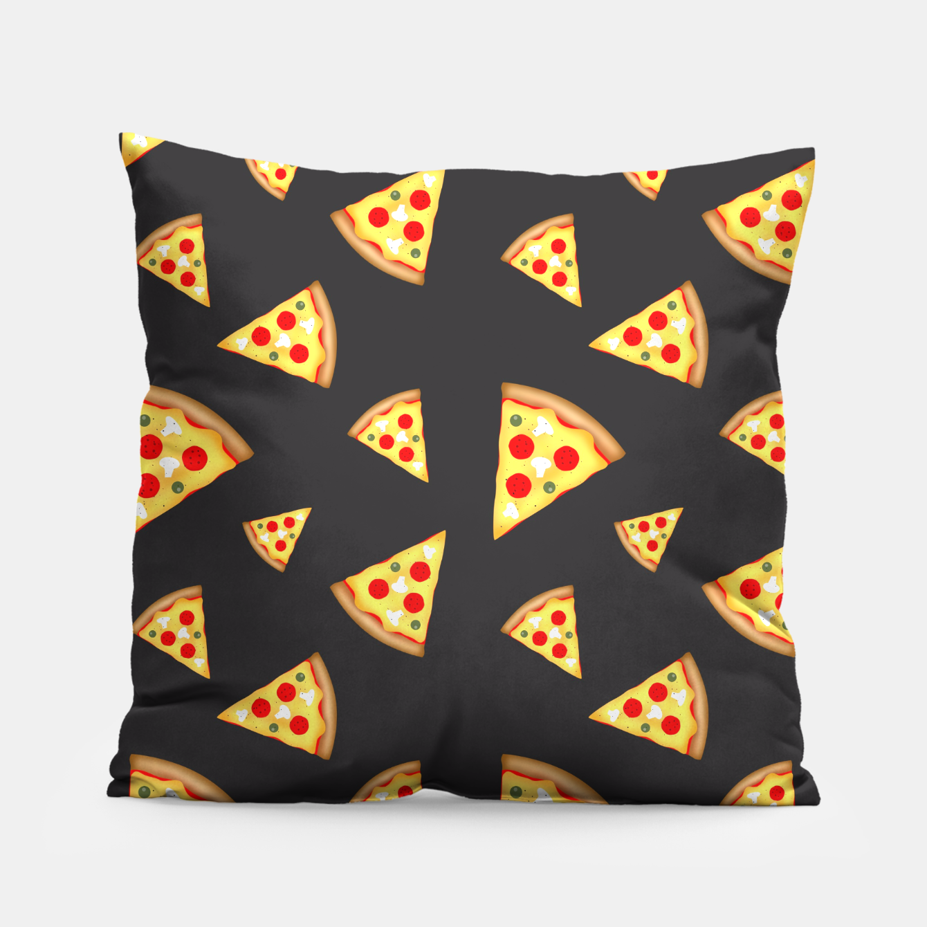 Image of Cool and fun pizza slices pattern Pillow - Live Heroes