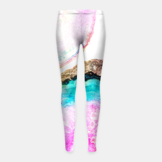 Thumbnail image of Agate V2 Pattern Girl's Leggings, Live Heroes
