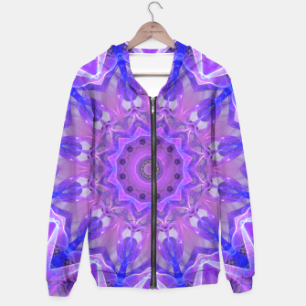 Thumbnail image of Abstract Plum Ice Crystal Palace Lattice Lace Mandala Hoodie, Live Heroes