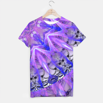 Thumbnail image of Abstract Plum Ice Crystal Palace Lattice Lace Mandala T-shirt, Live Heroes