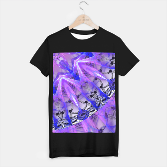 Thumbnail image of Abstract Plum Ice Crystal Palace Lattice Lace Mandala T-shirt regular, Live Heroes