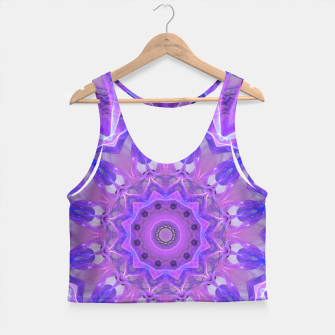 Thumbnail image of Abstract Plum Ice Crystal Palace Lattice Lace Mandala Crop Top, Live Heroes
