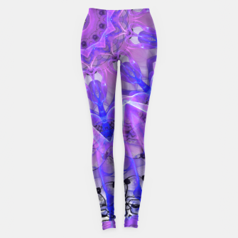 Thumbnail image of Abstract Plum Ice Crystal Palace Lattice Lace Mandala Leggings, Live Heroes