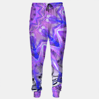 Thumbnail image of Abstract Plum Ice Crystal Palace Lattice Lace Mandala Sweatpants, Live Heroes