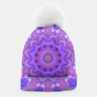 Thumbnail image of Abstract Plum Ice Crystal Palace Lattice Lace Mandala Beanie, Live Heroes