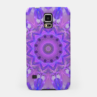 Thumbnail image of Abstract Plum Ice Crystal Palace Lattice Lace Mandala Samsung Case, Live Heroes