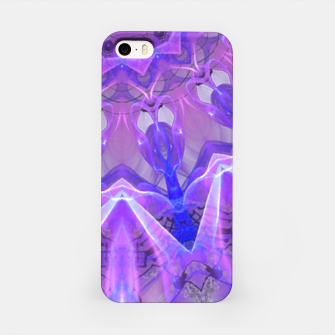 Thumbnail image of Abstract Plum Ice Crystal Palace Lattice Lace Mandala iPhone Case, Live Heroes