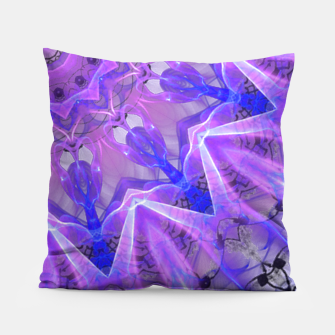 Thumbnail image of Abstract Plum Ice Crystal Palace Lattice Lace Mandala Pillow, Live Heroes