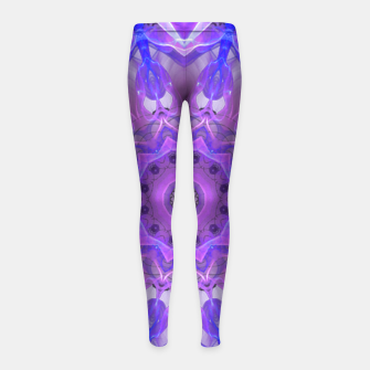 Thumbnail image of Abstract Plum Ice Crystal Palace Lattice Lace Mandala Girl's Leggings, Live Heroes