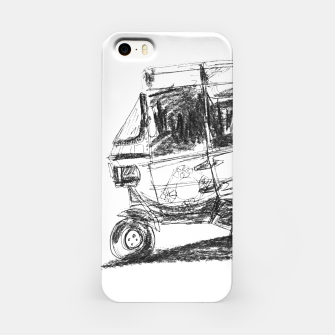 Thumbnail image of Black and White Bajaj iPhone Case, Live Heroes