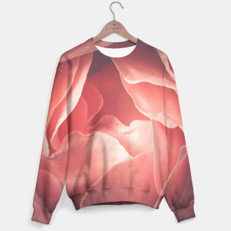 Pastel pink rose flower blossom Sweater thumbnail image