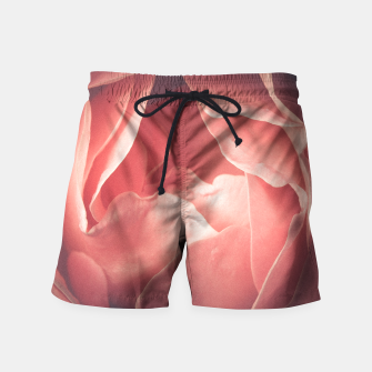 Pastel pink rose flower blossom Swim Shorts thumbnail image
