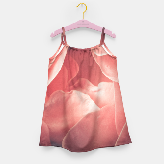 Pastel pink rose flower blossom Girl's Dress thumbnail image