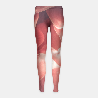 Pastel pink rose flower blossom Girl's Leggings thumbnail image