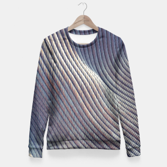 Thumbnail image of Fabric Distortion Fitted Waist Sweater, Live Heroes