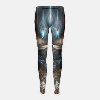 Thumbnail image of Oracle Seer Fractal Art Composition Girl's Leggings, Live Heroes