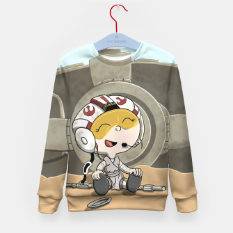 Thumbnail image of Space Girl Kid's Sweater, Live Heroes