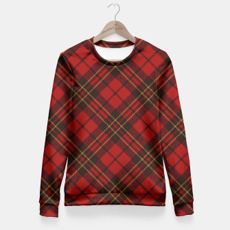 Thumbnail image of Adorable Red Christmas tartan pattern Women sweater, Live Heroes