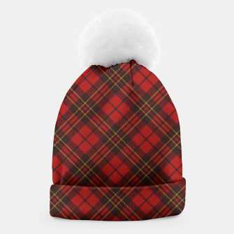 Thumbnail image of Adorable Red Christmas tartan Beanie, Live Heroes