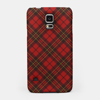 Thumbnail image of Adorable Red Christmas tartan pattern Samsung Case, Live Heroes
