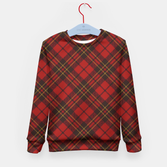 Thumbnail image of Adorable Red Christmas tartan Kid's Sweater, Live Heroes