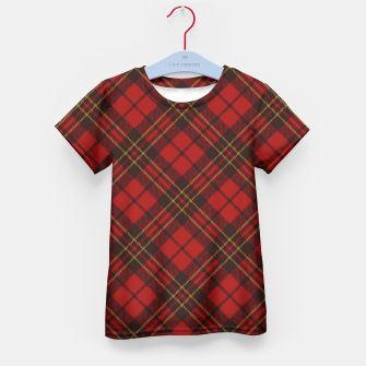 Thumbnail image of Adorable Red Christmas tartan Kid's T-shirt, Live Heroes