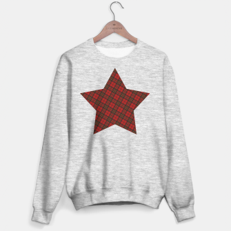 Thumbnail image of Adorable Red Christmas tartan Star Sweater regular, Live Heroes