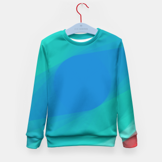 Turquoise Eye Kid's Sweater obraz miniatury