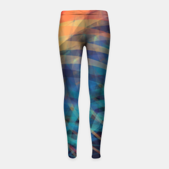 Turquoise Eye Girl's Leggings obraz miniatury