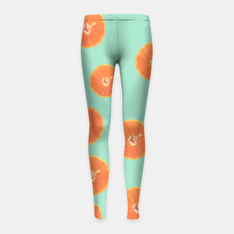 Miniature de image de Oranges Girl's Leggings, Live Heroes