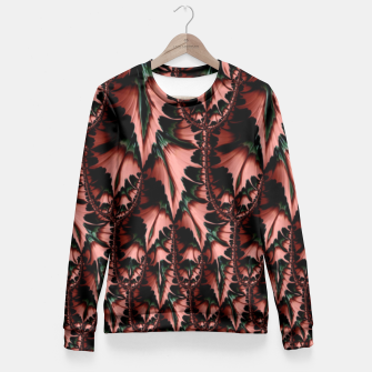 Thumbnail image of Abstract leaves Taillierte Sweatshirt, Live Heroes