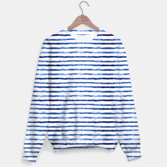 Miniaturka Blue grungy stripes Sweater, Live Heroes